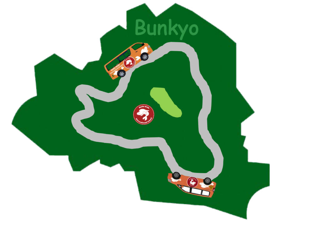 Please enjoy this fun map of our bus service in Bunkyo-ku!